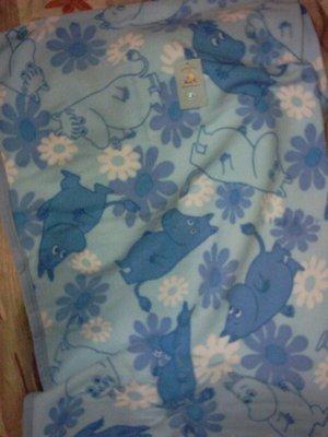 ~全新~ 嚕嚕咪 水藍色冷氣毯/收納毯