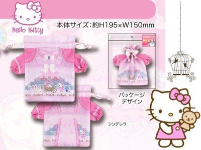 *Miki日本小舖*日本㊣版三麗鷗Hello Kitty凱蒂貓灰姑娘造型手機套/手機袋/化妝袋/小物袋 日本限定