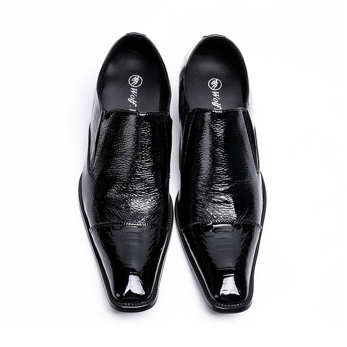**蛻變英倫**韓國限定版連線熱賣高品質訂製歐美頂級款獨創搖歐美英倫男士商務正裝休閒皮鞋真皮潮流時尚壓紋方頭套腳大碼男鞋