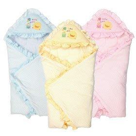 瘋狂寶寶***黃色小鴨 橫條冬季包巾(GT-81569)**特價684元