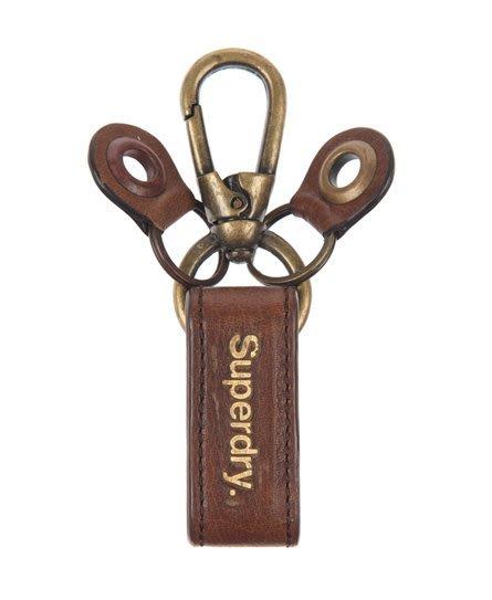 跩狗含運 極度乾燥 Superdry Keyring 仿舊金屬 復古風格 真皮 皮革 鑰匙圈 鑰匙扣 可搭配皮帶 棕 黑