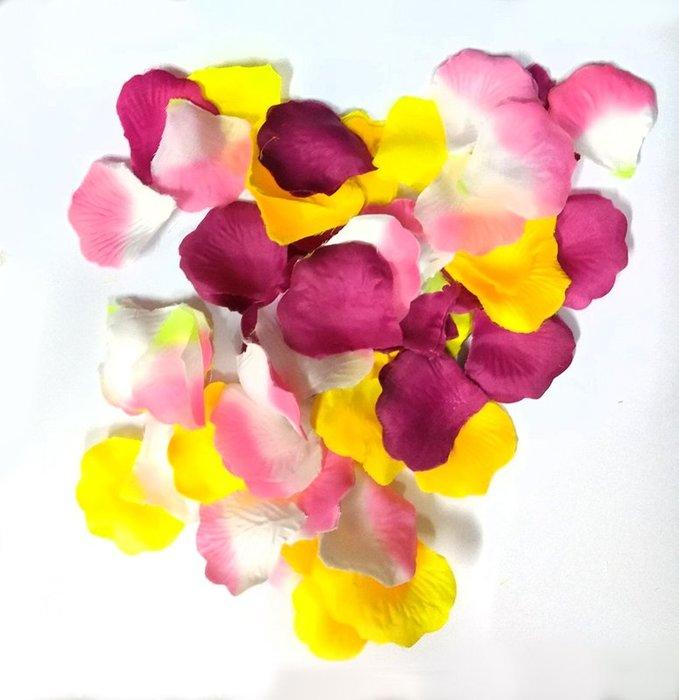 混色人造玫瑰花辦一元 2片新鮮玫瑰花瓣1克3元 婚禮佈置DIY 婚禮小物 汽球會場佈置2包免運