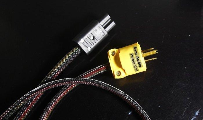 [山姆音響] 自家產超厲害電源線- 12AWG644低集膚效應特製發燒電源線/1米2