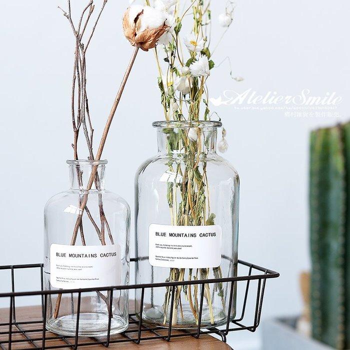 [ Atelier Smile ] 鄉村雜貨 北歐風 INS 家居裝飾 透明玻璃花瓶 # 250ML (現+預)