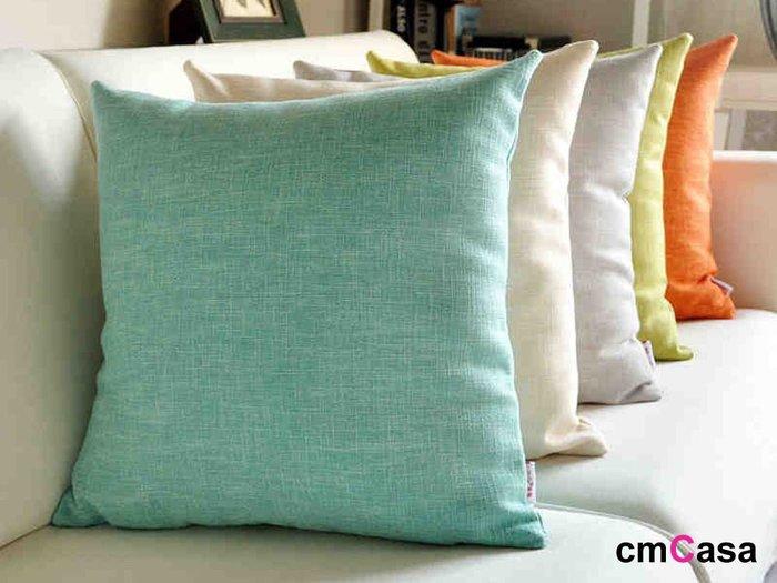 = cmCasa = [5278]春漾多彩新設計 彩麻多色抱枕套55x55 多色多尺寸渡假新發行