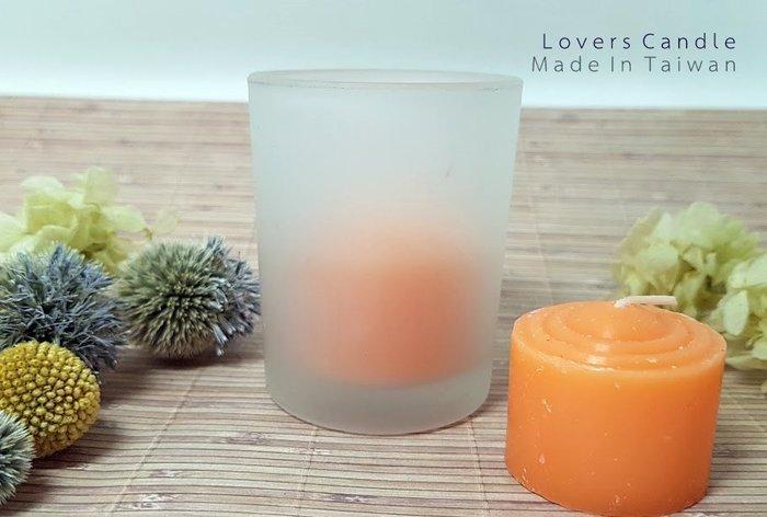 環保蠟燭*1+霧面玻璃燭杯*1 (無毒、低溫安全、燃燒時間長)【排字/婚禮/求婚/情人節】