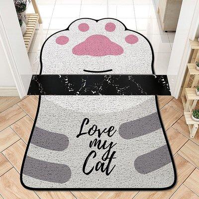 世界購 卡通可愛貓爪異形地墊 絲圈不規則組合地毯 入戶門墊 玄關腳墊