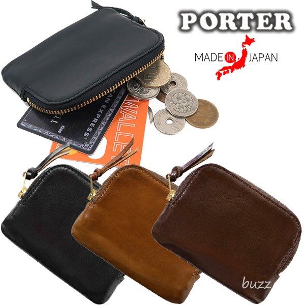 巴斯 日標PORTER屋- 三色預購 PORTER SOAK 牛肩革卡夾-零錢包 101-06057