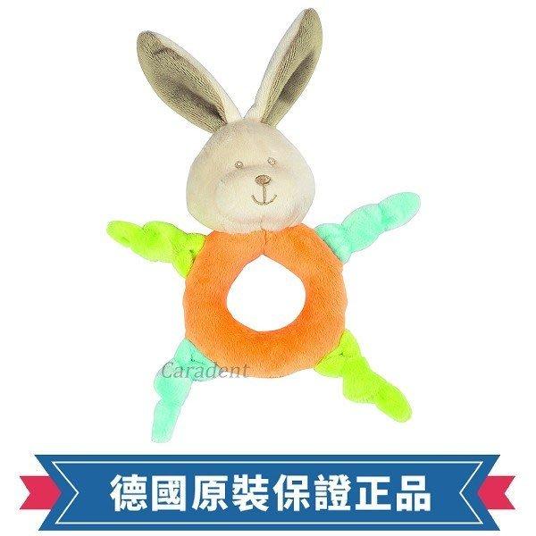 符合歐盟安全規範【卡樂登】 德國 Fashy 長耳兔柔軟絨毛手搖鈴 手抓球 嬰兒安撫陪睡玩具 新生兒送禮