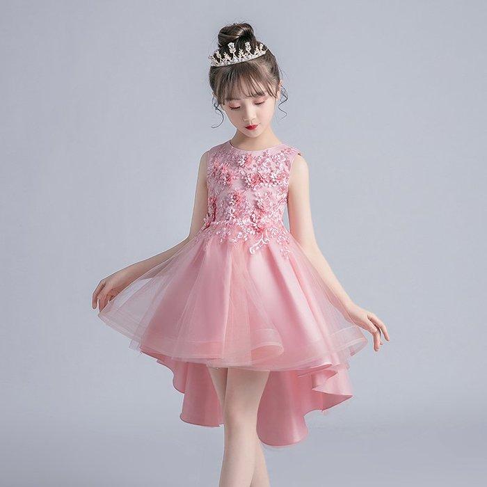 •*~ 辣媽咪衣飾小舖 ~*•❤童裝系列❤K980463韓版大童夏款甜美清新時尚蓬蓬蕾絲亮片可愛公主禮服公主洋裝