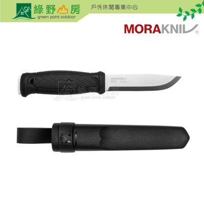 MORAKNIV 瑞典國刀 MORA 莫拉刀 Garberg 全龍骨式不鏽鋼直刀 塑膠護套 黑 13715