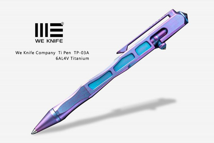 【angel 精品館 】We Knife TI MATERIAL PEN PLANI COLOR 藍紫鈦 戰術筆 03A