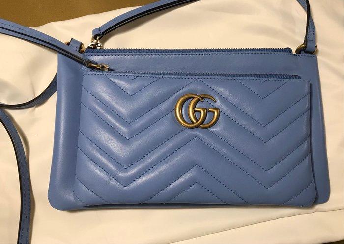 Gucci  GG Marmont花紋斜背包453878 GG Marrmont 可拆式 WOC 斜背包