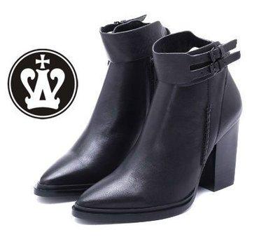 =WHITY==WHITY=韓國高級LOWEEN代購‧內外全真皮 有大碼 韓國製 高跟短靴S3KN487