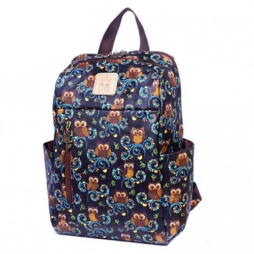 貝格美包館 可愛後背包 藍栗子貓頭鷹 Queen&Cat 防水包 後背包 兒童 書包 另有補習袋