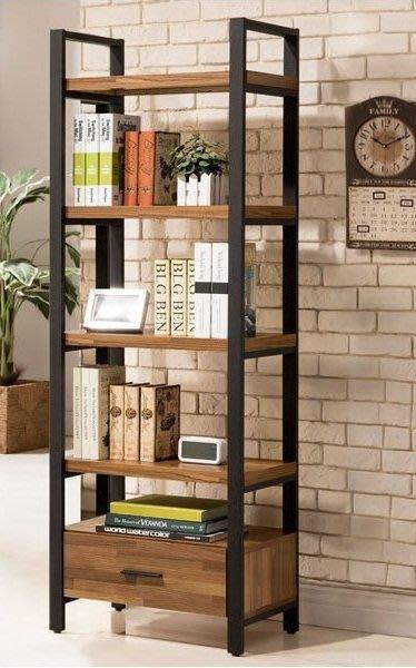 LOFT美式鄉村鐵藝置物架復古書架做舊復古書櫃