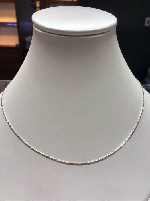 義大利585 14K金項鍊,三色K金配上玫瑰金項鍊,顏色漂亮閃亮質感超棒,超值優惠價4380