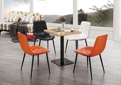 【南洋風休閒傢俱】餐桌椅桌系列 -60CM原木方餐桌 海柔皮革鐵藝創意造型餐椅 JH949-2 977-1~12