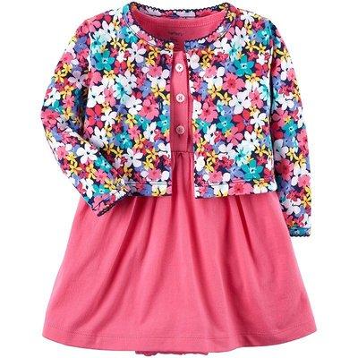 【愛寶貝】美國 Carter  Carter #x27 s 嬰幼兒春夏外套洋裝包屁衣組_美麗花朵 CTGSCD18-003