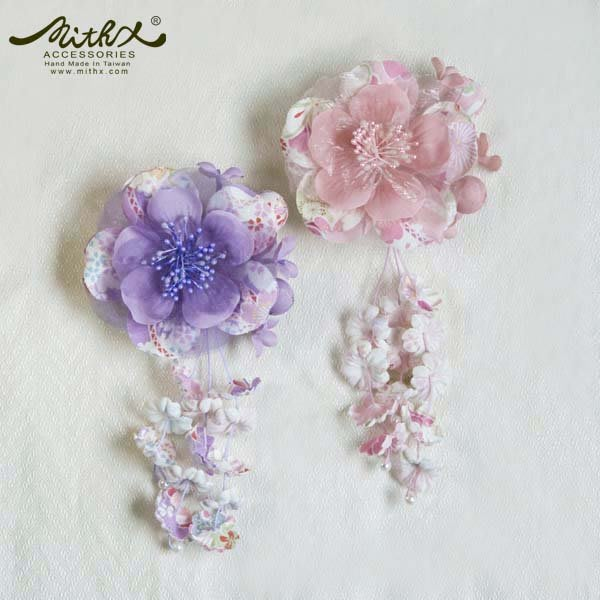 【MITHX】櫻花彩,夏盛宴,小側夾胸針,新祕造型髮飾-兩色