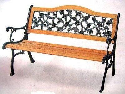玫瑰圓背雙人公園椅~大台中地區免運費