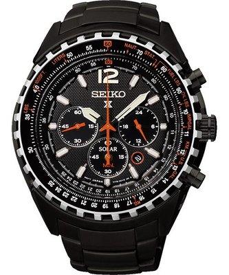 SEIKO Prospex極地探險三眼計時腕錶(SSC263P1)-IP黑/45mmV175-0CK0SD
