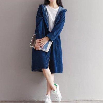 修身大碼牛仔風衣女中長款韓版秋季新款風寬鬆大碼長袖外套 GB6336