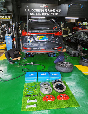 JK Racing 精品 LUXGEN U6 GT220 安裝 JK (後) 加大碟 355mm