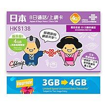 中國聯通(瘋狂特價)Softbank 8日 日本4G LTE 無限使用上網卡數據卡Sim卡及通話卡(首4GB 4G其後3G無限) -到期日:31/12/2019