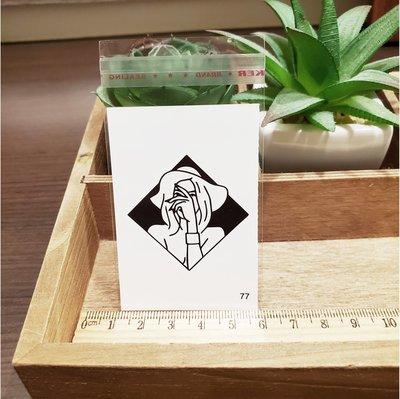【萌古屋】百態人生77單圖 - 男女防水紋身貼紙刺青貼紙 K43