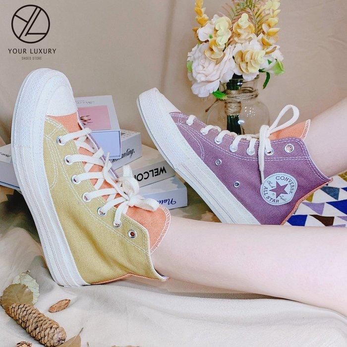 【Luxury】CONVERSE 男女 CHUCK 70 PANEL RENEW 藍粉 低筒 彩色 馬卡龍 拼接 男女鞋