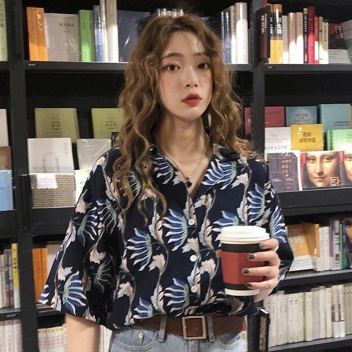 小香風 短袖T恤 時尚穿搭 韓版 心機設計感短袖襯衫女法式學生復古小眾上衣襯衣