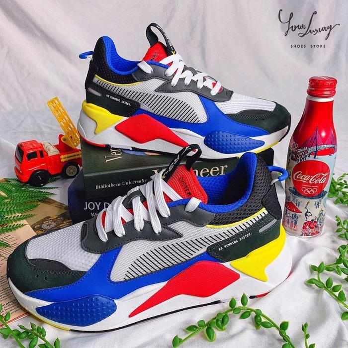 【Luxury】PUMA RS-X TOYS 玩具公仔 活潑亮色 網眼皮革 壓花 藍紅 黑綠 兩色 男女鞋 韓國代購