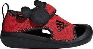 【鞋印良品】愛迪達 ADIDAS 迪士尼 Mickey I D96909 紅/黑 男女童 護趾涼鞋 包頭 透氣 防滑