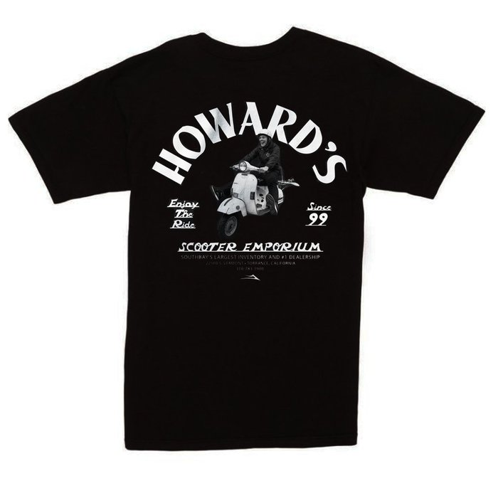 [CABAS滑板店] LAKAI HOWARDS SCOOTER TEE 黑 │滑板 品牌 經典 LOGO