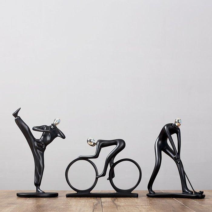 〖洋碼頭〗北歐風人物雕塑裝飾品小擺件現代簡約家居電視酒櫃擺設抽象工藝品 hbs336