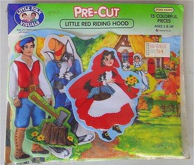 【大衛】庫存出清 美國進口創意不織布教具:PRE-CUT LITTLE RED RIDING HOOD