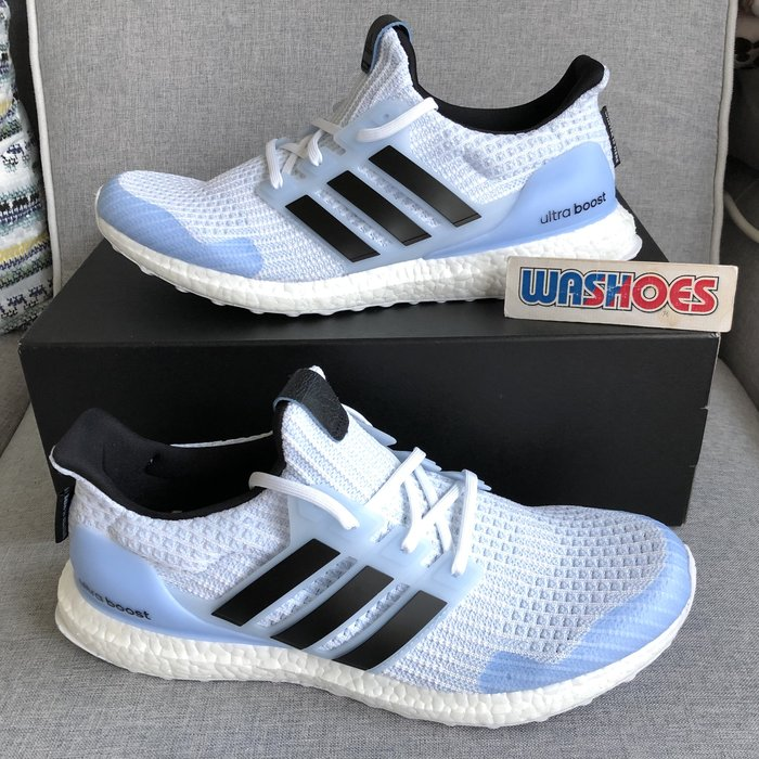 Washoes 大尺寸 adida UltraBoost X GOT 白 水藍 EE3708 冰與火之歌:權力遊戲 異鬼