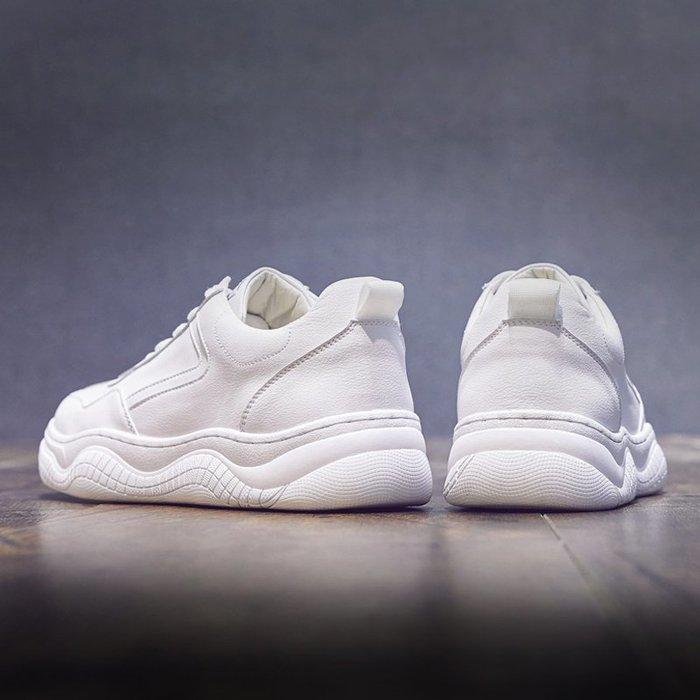 6Du spot~潮牌2020新款男鞋子增高小白鞋男韓版百搭潮流板鞋男運動休閑鞋子