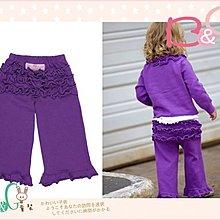 【B& G童裝】正品美國進口RuffleButts Purple Sweater Knit RuffleCrawler 紫色針織長褲2yrs