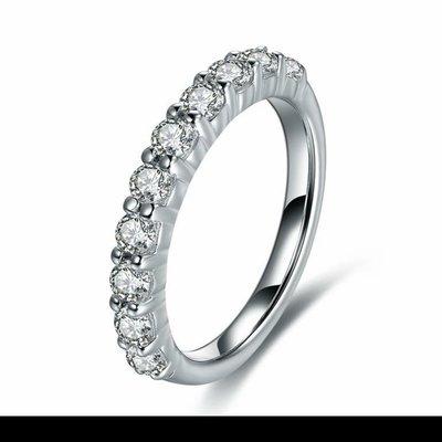 鑽戒線戒十全十美十顆27分鑽求婚 結婚...