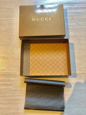 """金色絶版 100%真品【Gucci】原裝 銀包錢包紙盒 wallet paper box 6x4.8x1.3"""",100%新"""