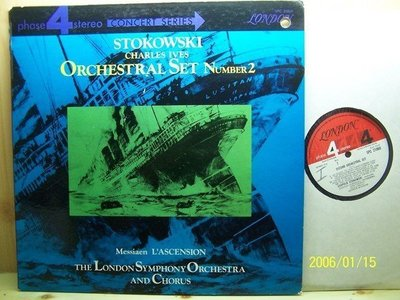 【DECCA Phase 4 LP】1269.艾維士:第2號管弦樂組曲,梅湘:L'ascension,史托考夫斯基