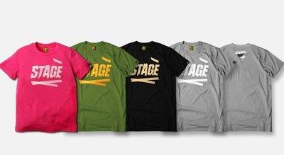 小豬 羅志祥 STAGE 9/8 STAGE TAPE 繃帶文字 短TEE 灰色XL 全新真品 推薦款