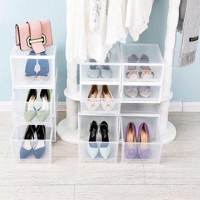 【家工廠】日式抽屜式收納鞋盒-透明高跟鞋盒-1個 收納箱