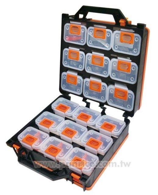 百利世~台灣製造可拆式18件組合式零件盒零件收納箱 零件收納盒 零件工具盒工具箱 零件箱