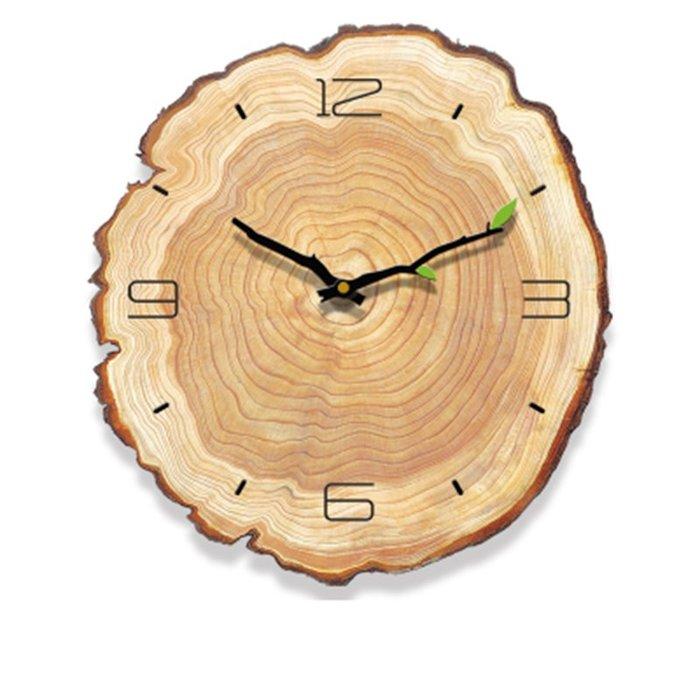 【Uluru 】木紋時鐘 靜音機芯 工業風格掛鐘