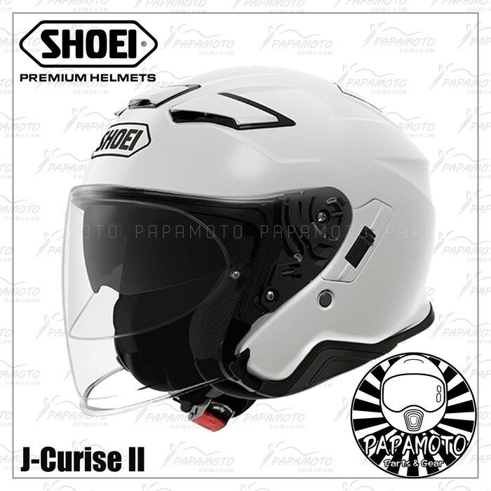 【趴趴騎士】SHOEI J-Cruise 2 - 白 3/4 安全帽 (內墨片 JCruise2