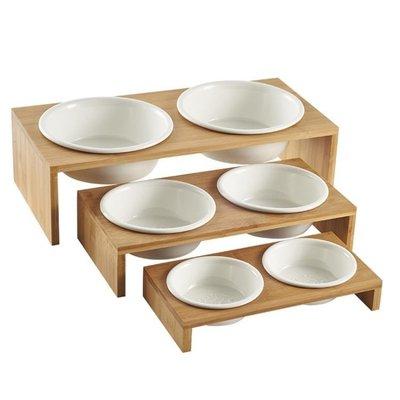 【興達生活】貓碗狗碗寵物碗食盆陶瓷雙碗 貓餐桌貓碗架狗餐桌中小型犬用品`17980
