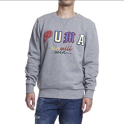 PUMA Dr. Logo crew 圓領長T 灰色 尺寸L 全新 現貨